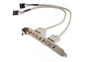 USB 2.0 Internal AT Motherboard Adapter - 2 Port - 12 Inch