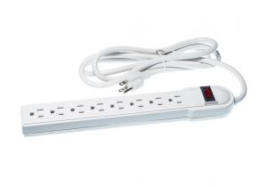 8 Outlet Surge Protector - 6 FT Cord