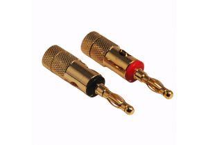 Banana Plugs - Metal - Gold - Black & Red