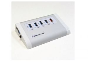 4 Port USB 3.0 Powered Aluminum Hub | 2A Charging Port