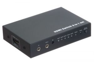 5-Way HDMI Switch Box with IR Extension (5in/1out)