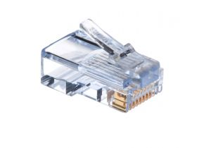 EZ-RJ45 Cat5e Feed Through Connector - 8P8C - Solid & Stranded Cable