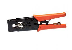 Ratchet Compression Tool for RG58, RG59, & RG6 - F Type, BNC, & RCA