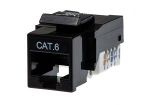 Category 6 Keystone Jack Tool less CAT6 RJ45 Insert Color Black
