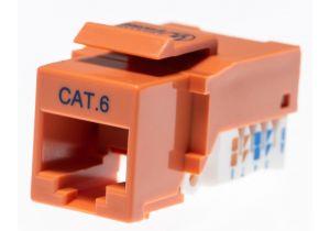 Category 6 Keystone Jack Tool less CAT6 RJ45 Insert Color Orange