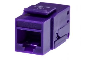 Category 6 Keystone Jack Tool less CAT6 RJ45 Insert Color Purple