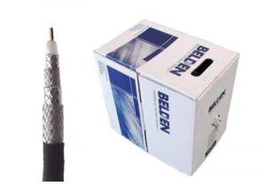 Belden 1617A - RG11 Quad Shield Coax Cable - CCS - Black - 1000 FT