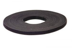 Bulk Hook and Loop Fastening Cable Tie - 50 Foot Roll x 3/4 Inch - Black