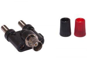 BNC Female to Dual Binding Post Adapter