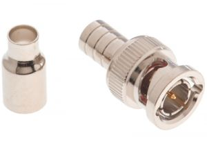 BNC Male Crimp Connector - RG59 & RG62 Plenum