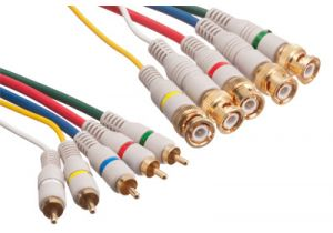 RGBHV 5 BNC to 5 RCA Component Video Cable - 6 FT