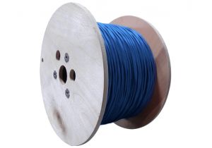 Cat8 Shielded Solid Bulk PVC Ethernet Cable - Blue