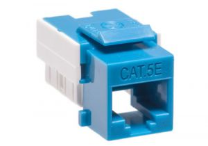 Cat5e RJ45 Punchdown Keystone Jack - Dual Row - Blue