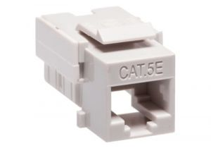 Cat5e RJ45 Punchdown Keystone Jack - Dual Row - Gray