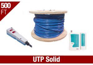 Cat5e UTP Solid Network Installation Kit - Blue
