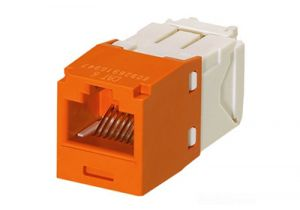 Panduit Mini-Com Category 6A Jack - Orange Jack - Orange