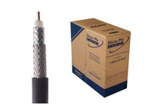 ECore RG11 Direct Burial Coax Cable - CCS - Black