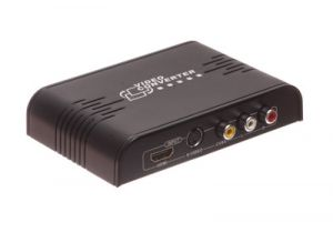 Composite RCA and S-Video to HDMI Upscale Converter