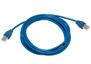 8 Foot Cat5e Blue Plenum Ethernet Patch Cable - Blue Slip On Boot