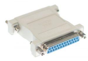 DB25 Female to DB25 Female Null Modem Adapter