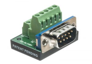 DB9 Male Terminal Block Panel Mount Connector