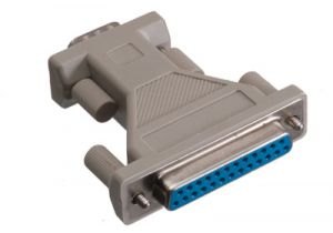 DB9 Male to DB25 Female AT Serial Adapter