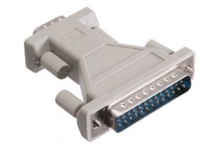 DB9 Male to DB25 Male AT Serial Adapter