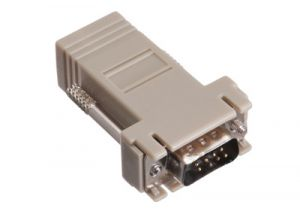 DB9 Male to RJ45 Female Modular Adapter Kit - 8 Conductor