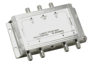 3x4 Satellite TV Multiswitch | 40-2150MHz