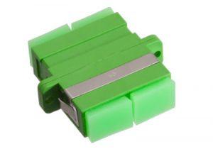 SC/APC to SC/APC Duplex Singlemode Fiber Adapter - Ceramic