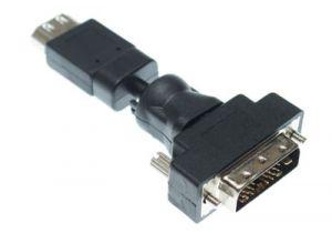 DVI Male to HDMI Female Swivel Adapter