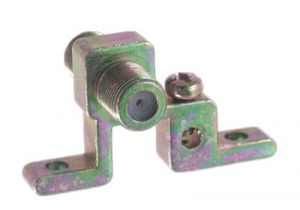 Single Port F-Type Coax Grounding Block - 900 MHz