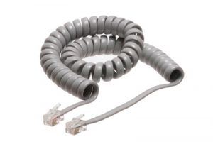 4 Inch Lead Handset Cord - 6 FT - Gray