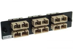 ICC Fiber Adapter Panel - SC - 6-Port Duplex - Metal