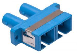 ICC SC/ST Duplex Singlemode/Multimode Fiber Adapter - Ceramic