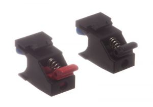 ICC Speaker Spring Clip Keystone Jacks - 1 Pair - Black