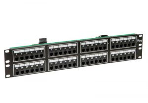 ICC Telco Male Patch Panel - RJ11 - 6P4C - 2 RU - 48 Port