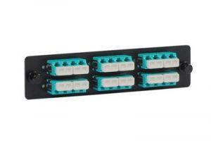 ICC 10GB High Density Adapter Panel - LC Quad - 12 Duplex - Metal