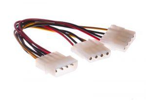 Molex 4-Pin to 2 Molex 4-Pin Power Y Cable - 6 Inch