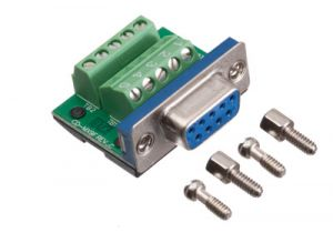 MaxBlox DB9 Female Terminal Block Connector
