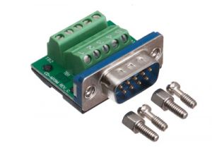 MaxBlox DB9 Male Terminal Block Connector