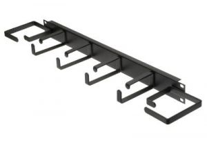 ECore DuroRacks 1U Cable Management Bar with 5 Metal D-Rings