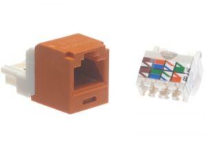 Panduit Cat6 RJ45 Mini-Com Tool-Less Jack Jack - Orange