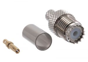 Mini UHF Female Crimp Connector - RG8/X & LMR-240