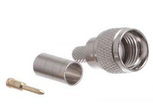 Mini UHF Male Crimp Connector - RG58, RG141 & LMR-195