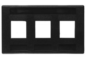ICC Keystone Modular Furniture Wall Plate EZ - 3 Port