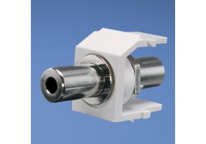 Panduit Netkey 3.5mm Stereo Feed-Thru Keystone Coupler - High Density