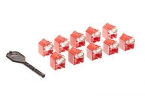 Panduit RJ45 Plug Lock-in Devices - 10 Pack