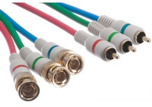 Python 3 BNC to 3 RCA Component Video Cable - 6 FT