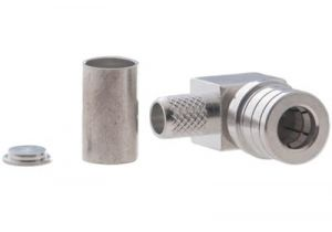 QMA Right Angle Male Crimp Connector - Micro 8/U (RG8X) & LMR-240